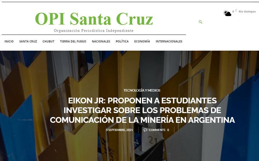 OPI Santa Cruz - repercusiones de prensa